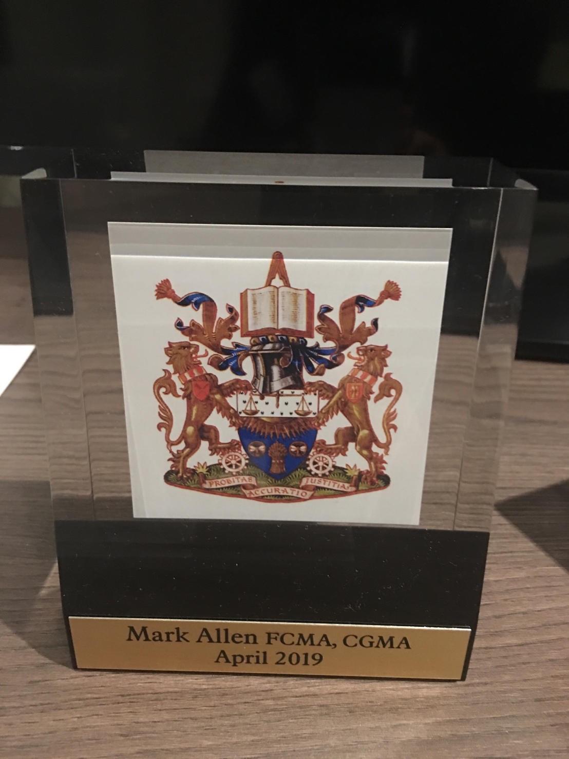 Mark's CIMA Award